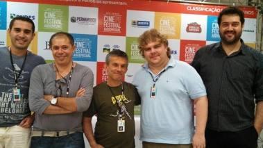 Da esquerda para a direita:  Diego Benevides, Humberto Silva,  Paulo Portugal,  Lucas Salgado e  André Dib