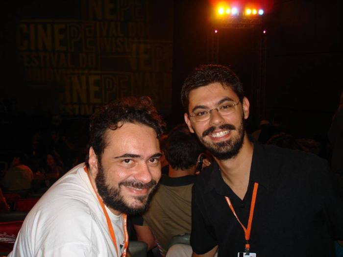 João Carlos Sampaio (esq.) e Marcelo Miranda, no CinePE 2009