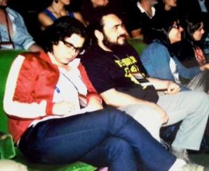 Yale Gontijo (esq.) e João Sampaio no Festival de Brasília, 2012. Foto Irone Queiroz.