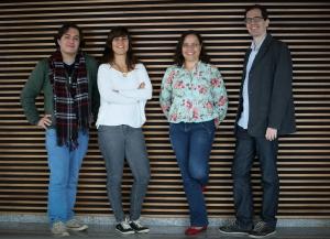 Da esquerda para direita: Alysson Oliveira, Luciana Veras, Camila Vieira e Daniel Schenker. Foto: Aline Arruda