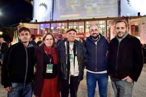 Da esquerda para direita: Ricardo Dahen,  Jaquelinie Chala, Helio Nascimento, Marcelo Müller e Diego Lerer  (Foto: Cleiton Thiele)
