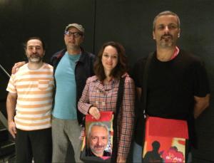 A partir da esq: Carlos Primati, Luiz Zanin, Carol Almeida e Roberto Cunha; e Sérgio Rizzo (em destaque)