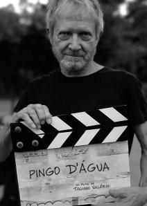 Jean-Claude Bernardet no set de Pingo d'água