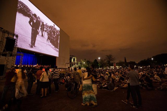 Apresentação do filme no parque Ibirapuera (Foto: Mario Miranda Filho/Agência Foto)