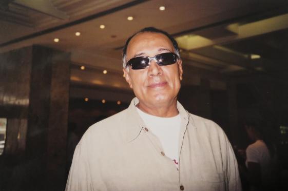 Abbas Kiarostami em Porto Alegre, 2004 - Foto: Ivonete Pinto