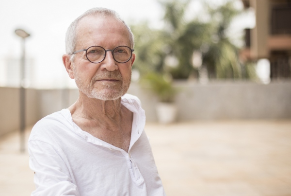 Jean-Claude Bernardet no 49º Festival de Brasília do Cinema Brasileiro. Foto: Júnior Aragão