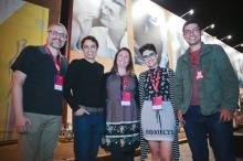 Da esquerda para direita:Marco Antonio Moreira, Luiz Joaquim, Samantha Brasil, Bianca Zasso e Felipe Moraes. Foto: Junior Aragão